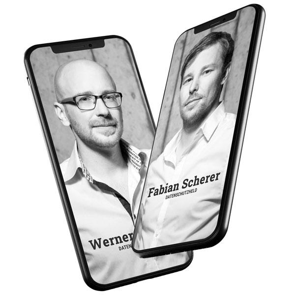Datenschutzhelden Regensburg, Fabian Scherer, Werner Schmid, Foto