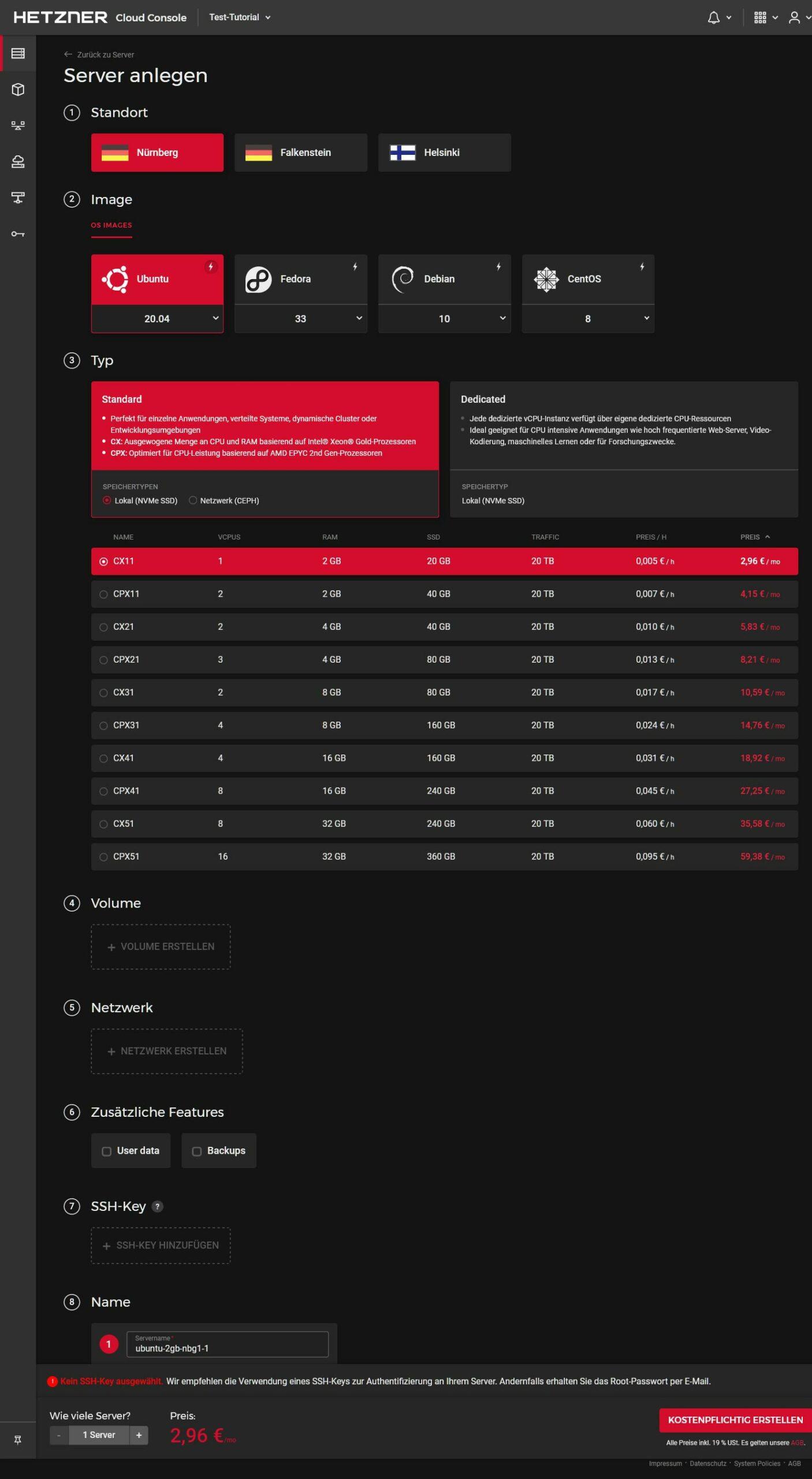 Hetzner vCloud Konfiguration, Jitsi-Server